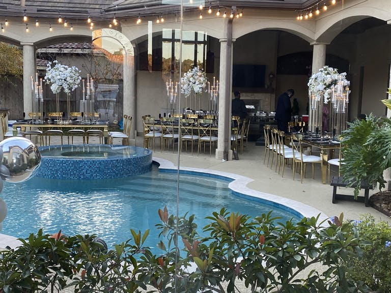 Stunning pool party rentals by LFB Couture of Houston, TX   Partyslate