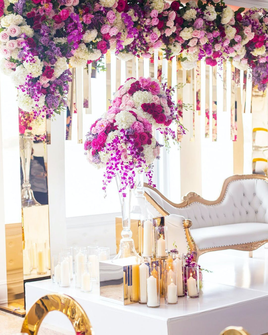 Engagement party with South Asian wedding décor | PartySlate
