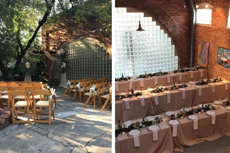 Summertime wedding at Bisong Art Gallery in Houston, TX   PartySlate