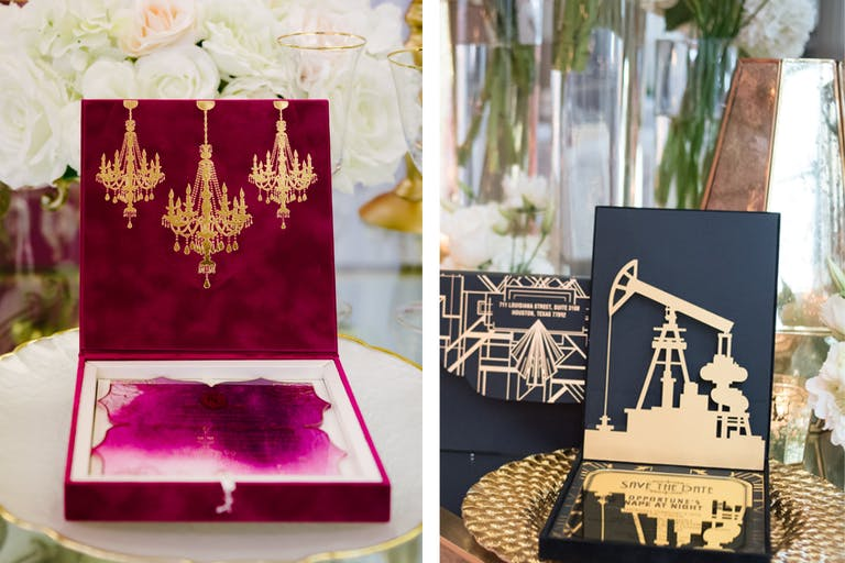 Couture Wedding Invitations by Isabella Invitations of Houston, TX   PartySlate