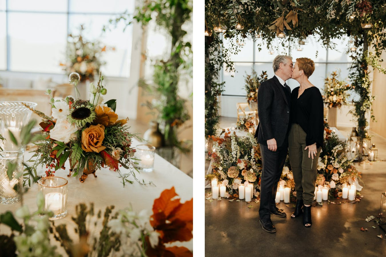Nature-filled autumn anniversary dinner | PartySlate