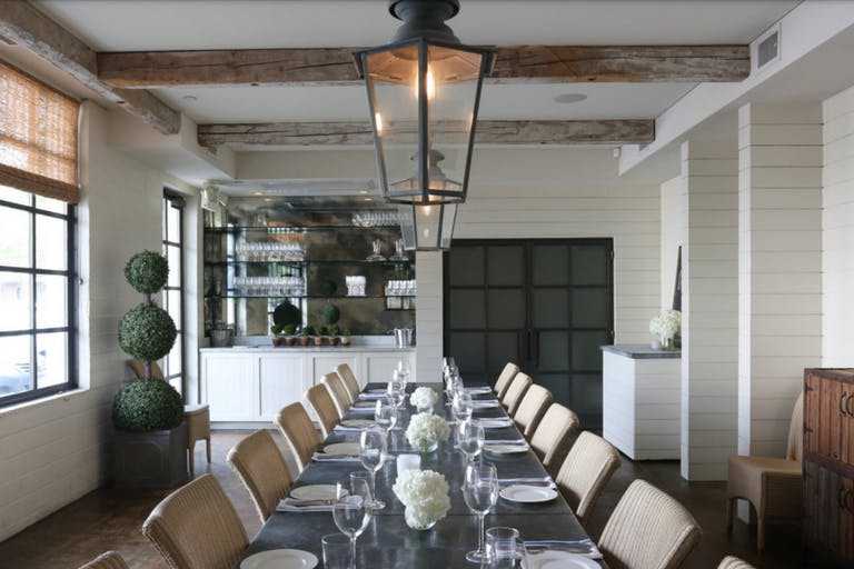 Indoor wedding reception at Tiny Boxwoods in Houston, TX   PartySlate