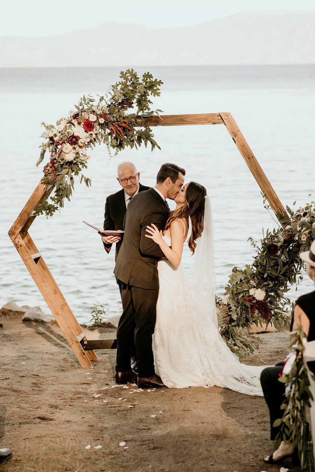Boho Chic Wedding at Hellman-Ehrman Mansion in Lake Tahoe, CA