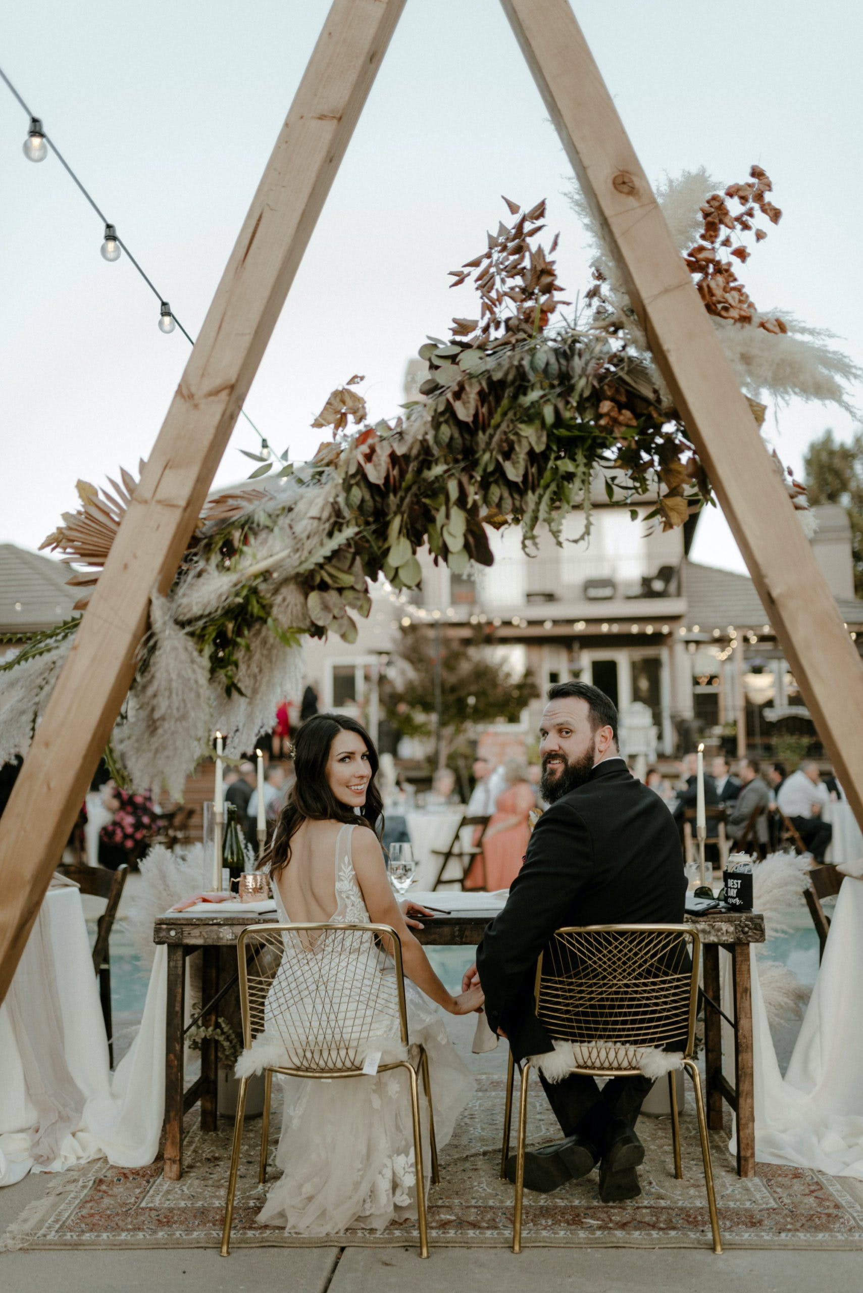 Chic and Bohemian Wedding in Sacramento, California