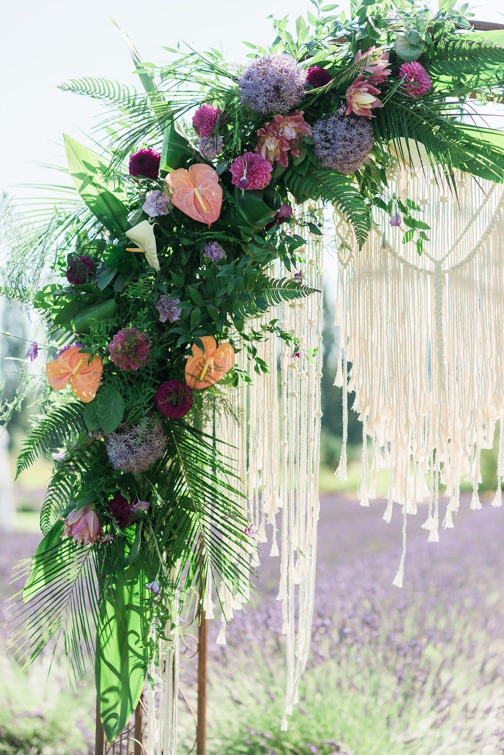 Edgy Boho Wedding at Woodinville Lavender Farm
