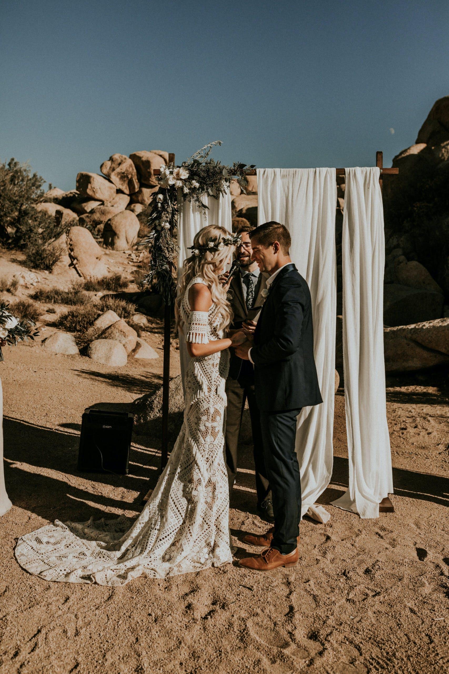 Lauren and Robert's Boho Joshua Tree Wedding