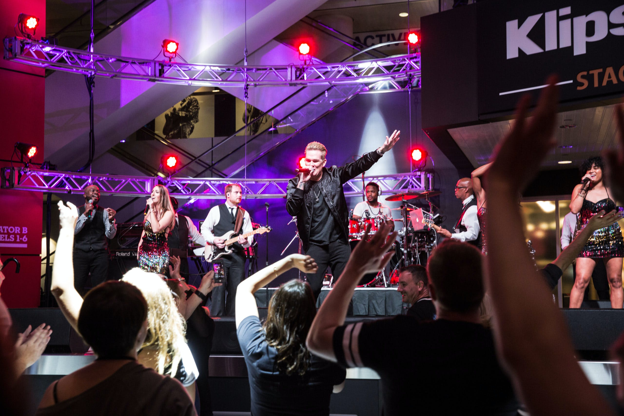 Multi-Day Corporate Event with rock band on stage   PartySlate