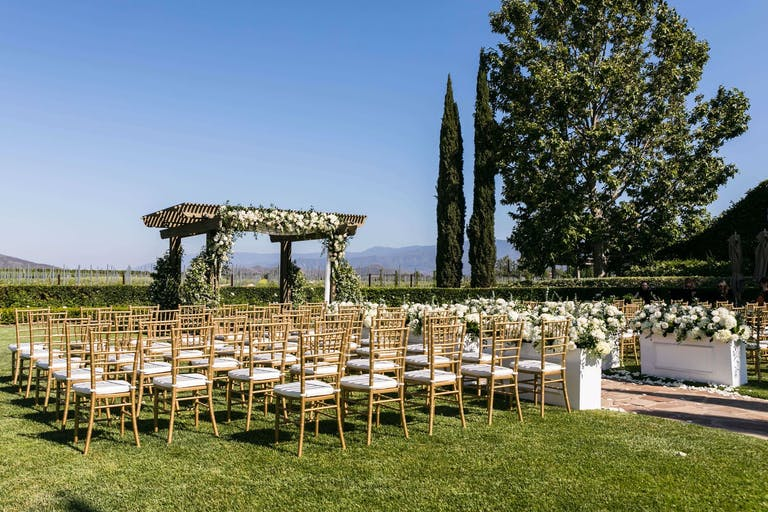 Outdoor wedding at Ponte Winery   PartySlate
