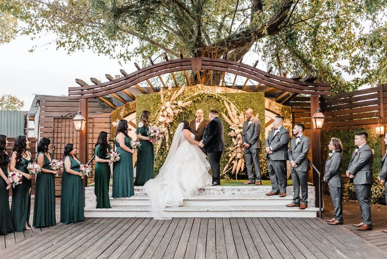 Outdoor fall wedding at Hughes Manor in Houston, TX   PartySlate
