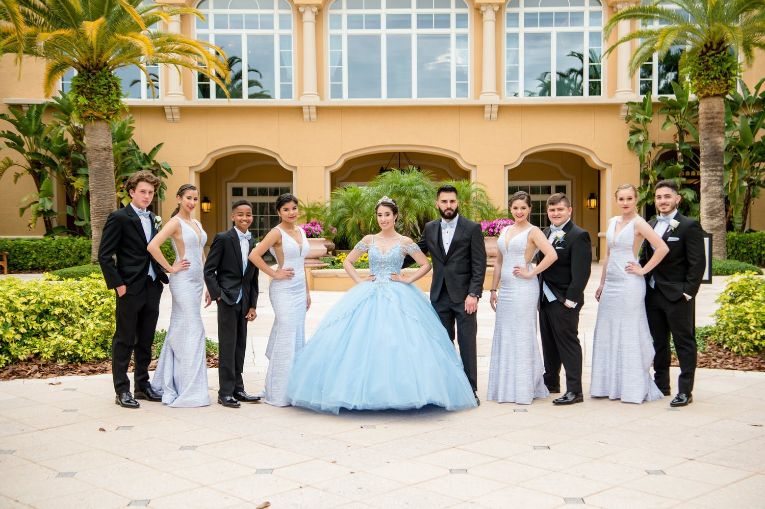 The Court of Honor & Chambelan Escort at Fairytale Quinceañera | PartySlate