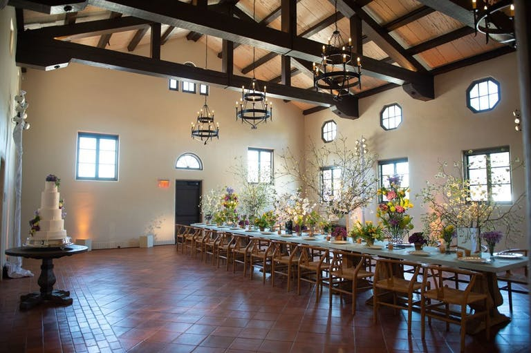 Intimate wedding reception at Lott Hall at Hermann Park Conservancy   PartySlate