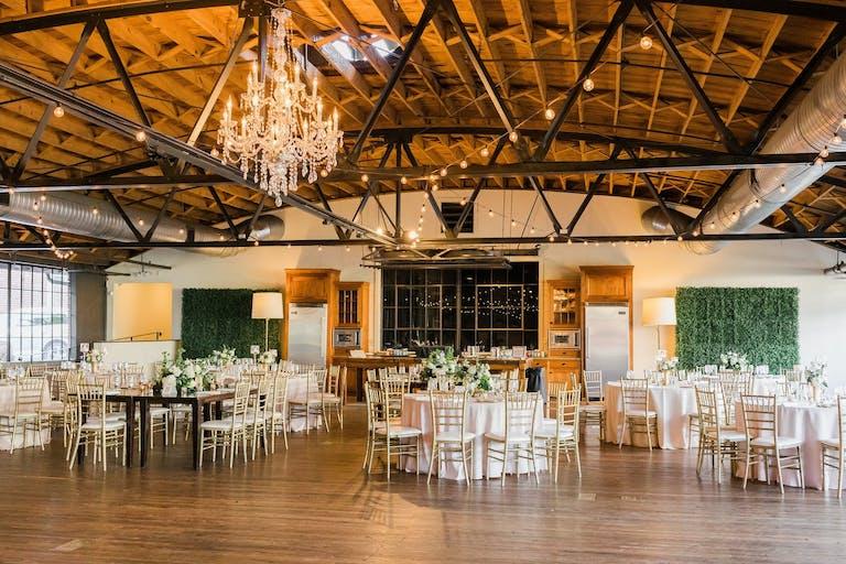 Wedding Reception with Greenery at Summerour Studio in Atlanta, GA   PartySlate