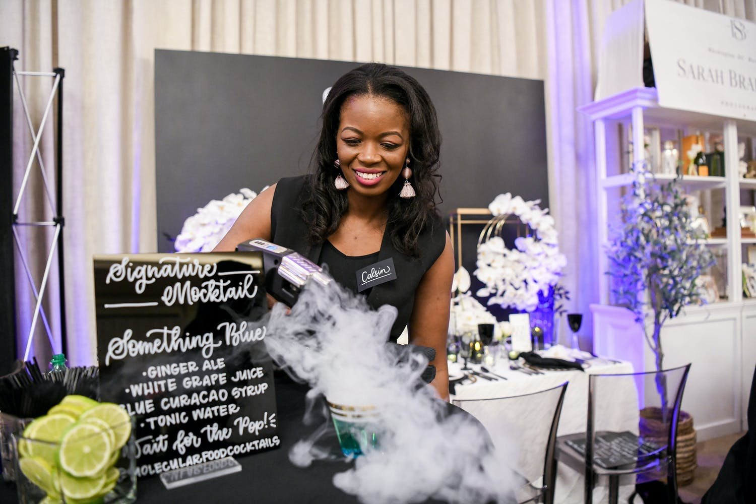 Molecular mixologist makes smoky mocktail for corporate event | PartySlate