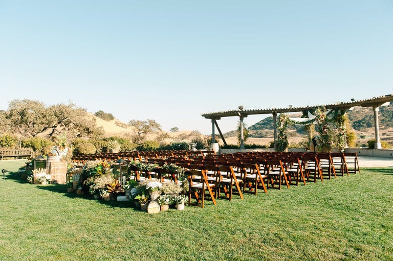 Fall Winery Wedding Ceremony at Clos LaChance Vineyards in San Martin, CA   PartySlate