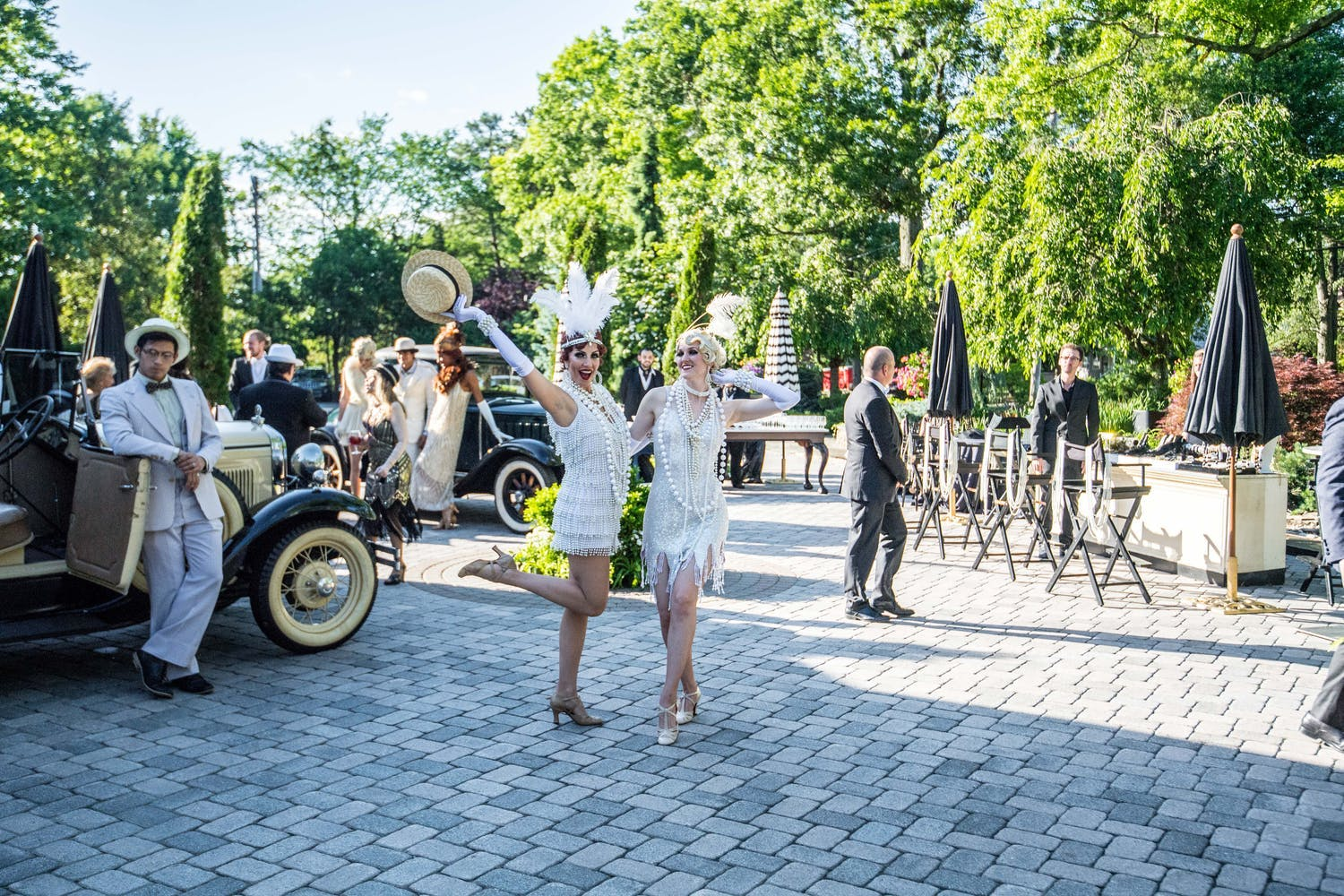 Two Flapper Girls at Great Gatsby-Themed Anniversary Party | PartySlate
