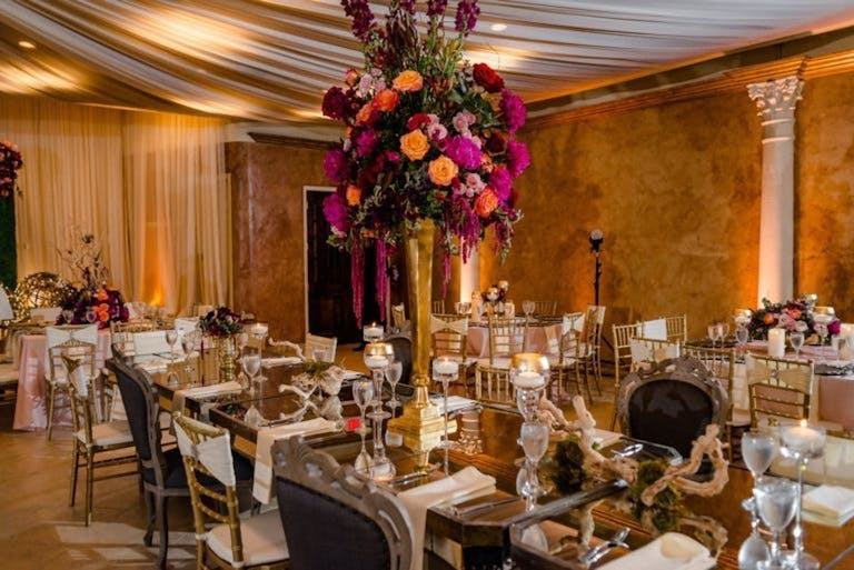 Vibrant Wedding with Bold Floral and Driftwood Centerpieces Planned by Events with Darrell of Houston, TX   PartySlate