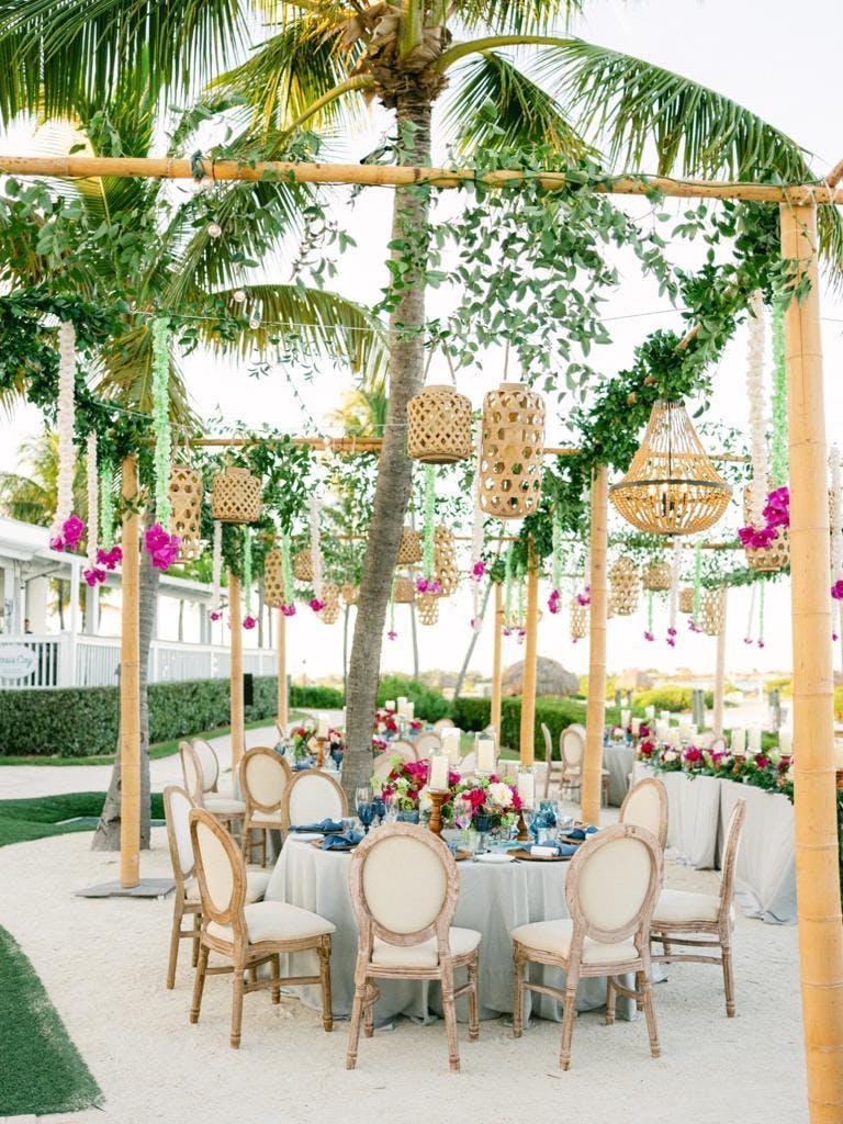 Tropical Boho Chic Wedding at Hawks Cay Resort in Duck Key, Florida