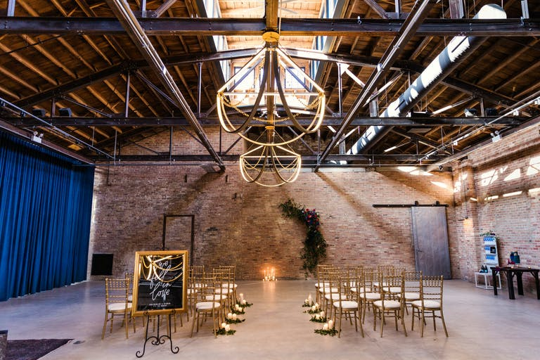 Colorful and Romantic Modern Industrial Wedding