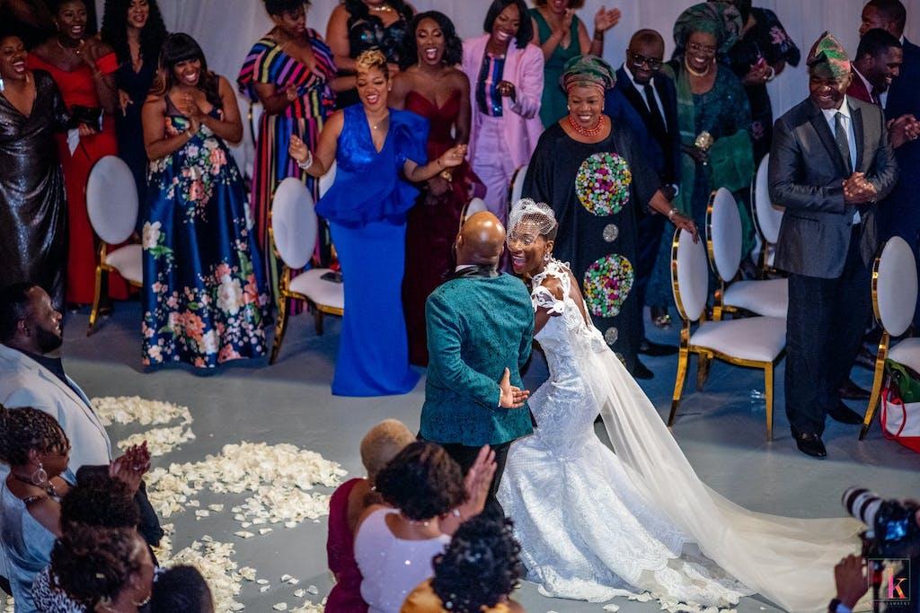 Modern Nigerian-American wedding at Moonlight Studios | PartySlate