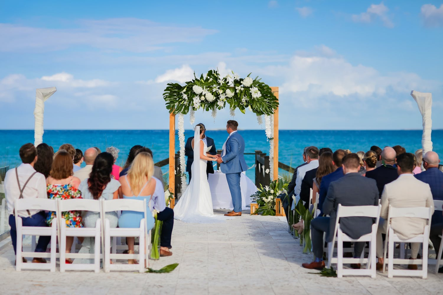 Small beach wedding ceremony at 23 North, Grand Isle Resort and Spa   PartySlate