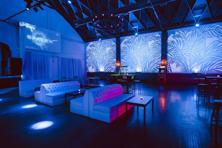 All-blue company holiday corporate event in The Main Room at Candela La Brea | PartySlate