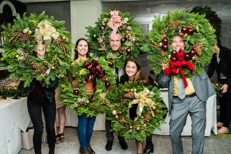 Holiday wreath-making party at Cast Restaurant at Viceroy Santa Monica | PartySlate