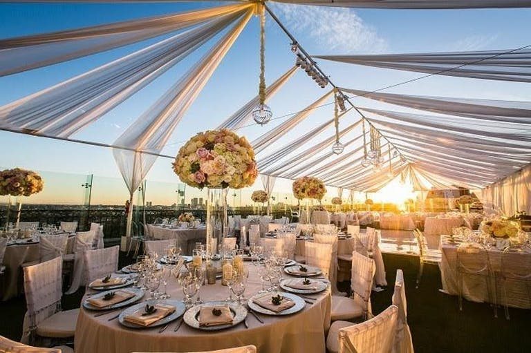 Open tenting at West End Rooftop at The London West Hollywood, CA | PartySlate