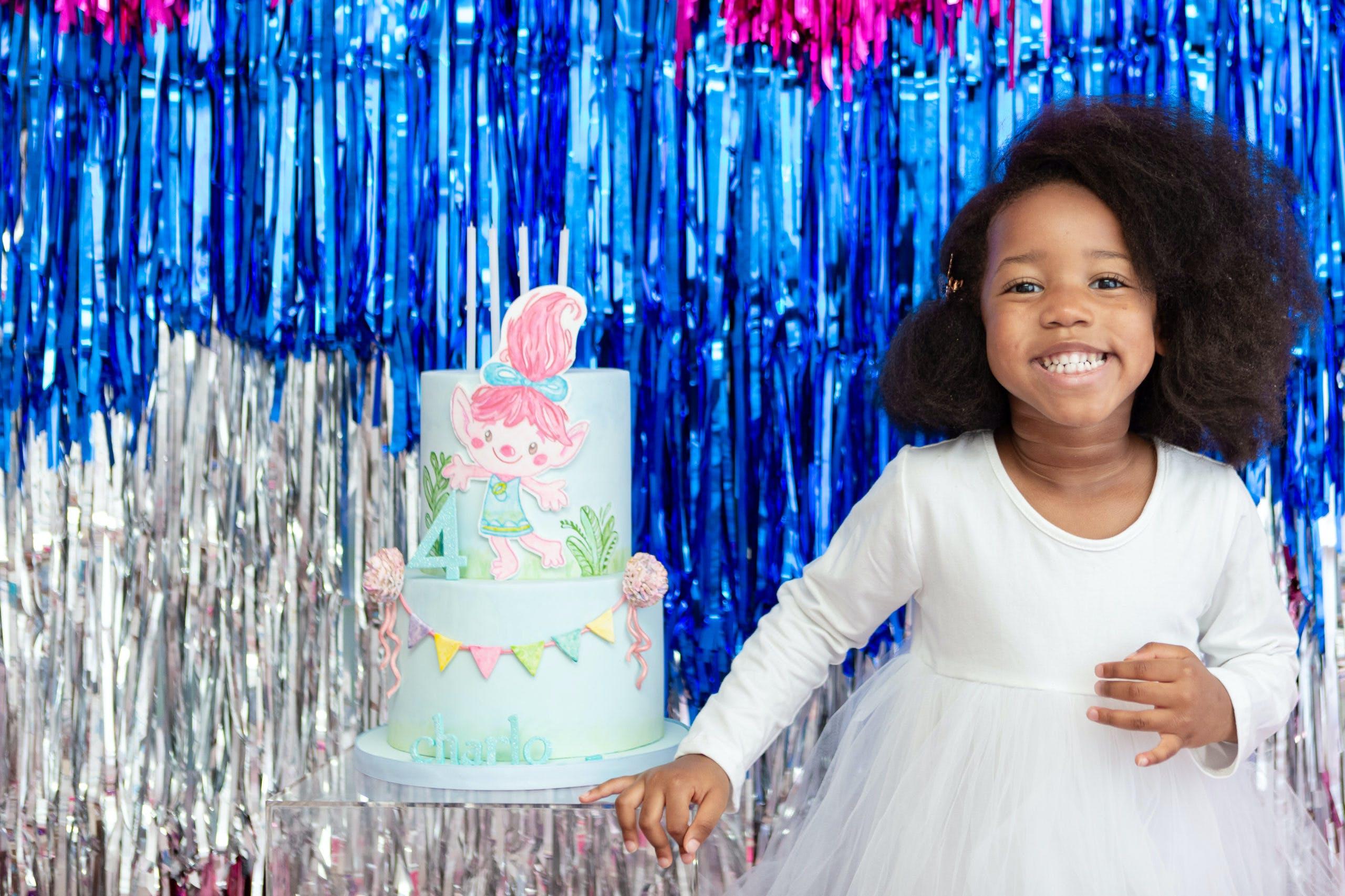 Vibrant and Virtual Trollz Theme Birthday Party in Miami, Florida