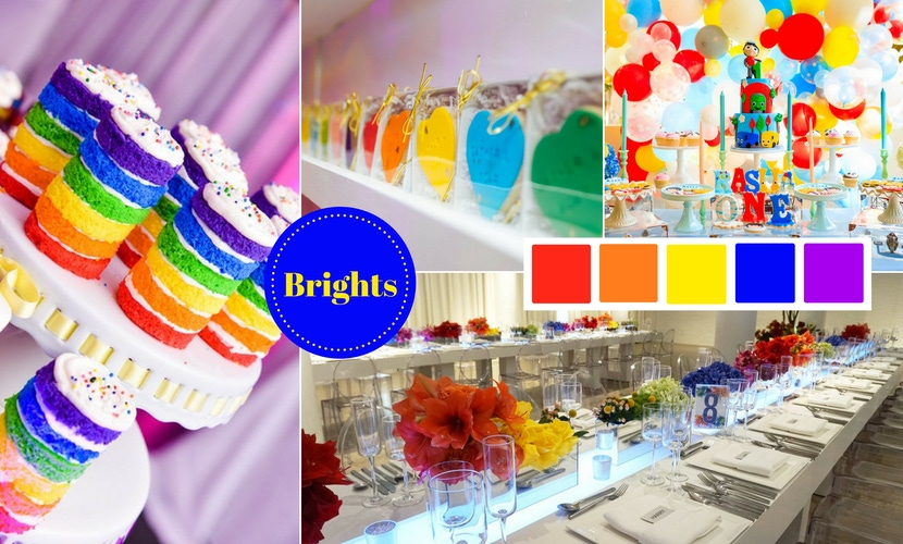Colors Are Still Synonymous With Festive Fun Pops Of Strong Color Add Interest But An Entire Palette Bright Hues Sets The Stage For A Lively Party